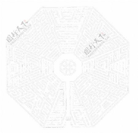 黑白八卦迷宫图