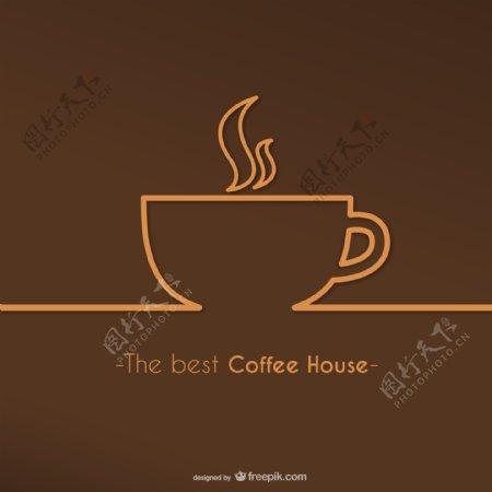 最好咖啡馆标志矢量