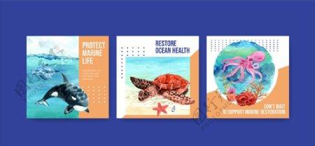海洋动物卡片