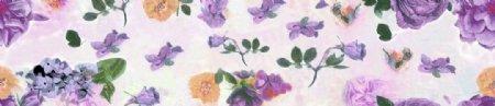 大牌数码印花设计花卉扎