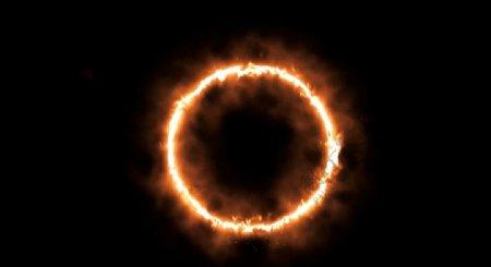 燃烧中的火焰光圈