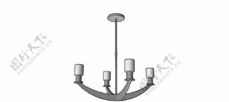 吊灯skp模型图片