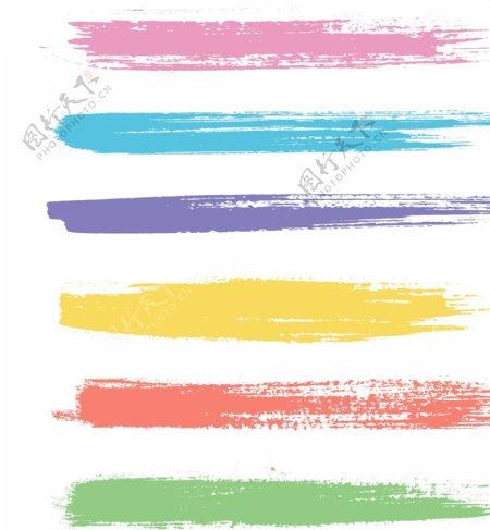 彩色泼墨笔刷
