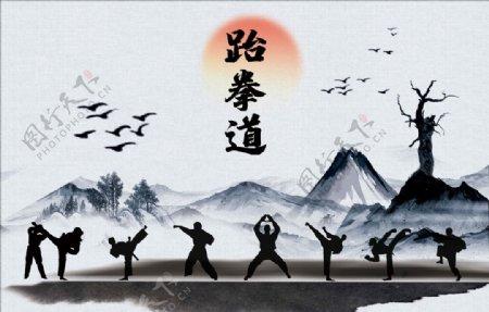 跆拳道文化艺术展板