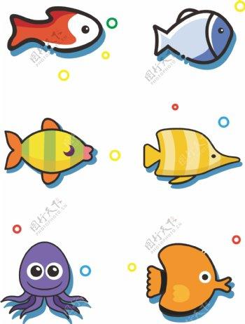 鱼海鲜海洋鱼元素