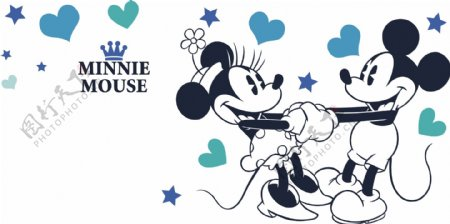 硅藻泥图案背景米奇米老鼠