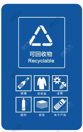 可回收垃圾桶图标