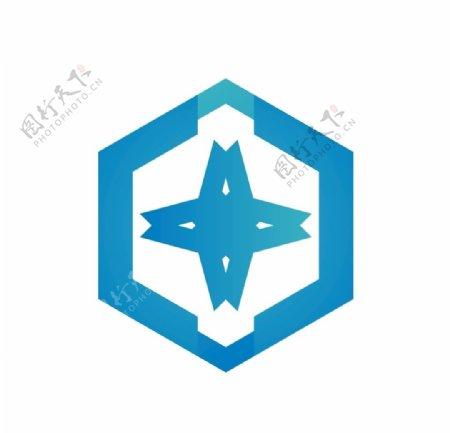 蓝色科技公司logo设计