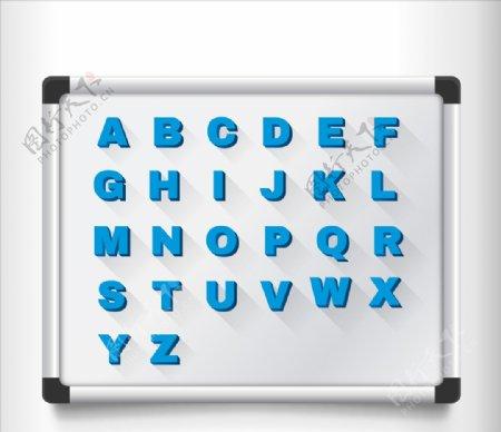电路板上磁性字母