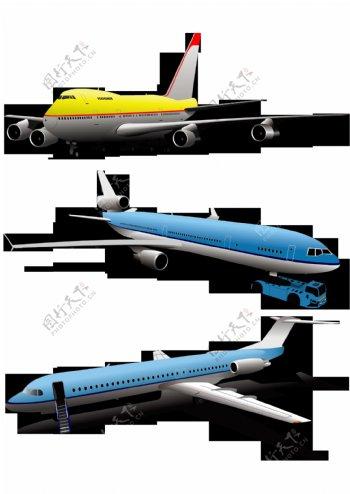 飞机客机标识标志图标素材