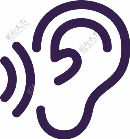 耳朵听图片