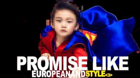 免抠超人小孩儿童图片