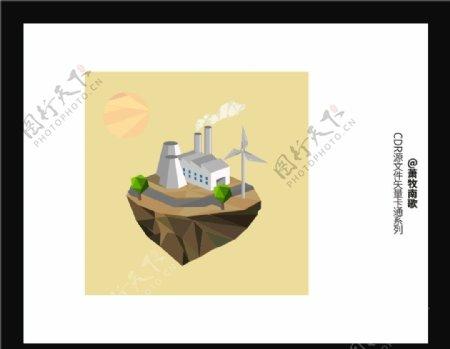 山树悬崖CDR矢量图图片
