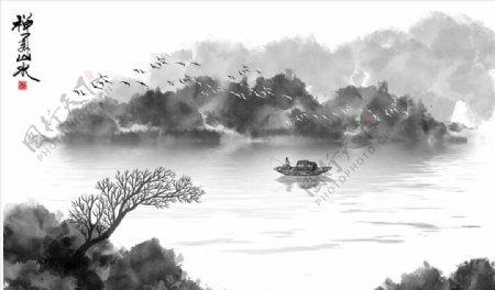 禅意山水画图片