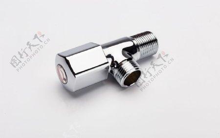 金属水龙头管道摄影图片