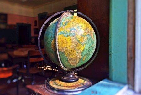 地球仪特写图片