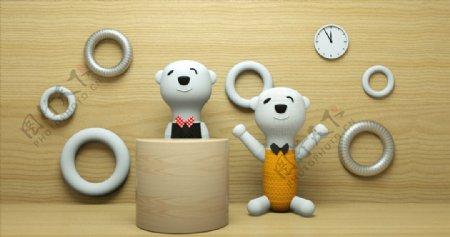 卡通大白熊模型图片