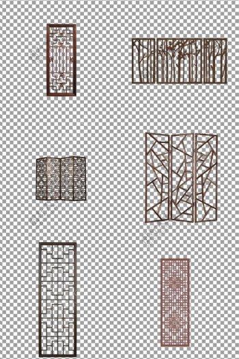 实木屏风窗户图片