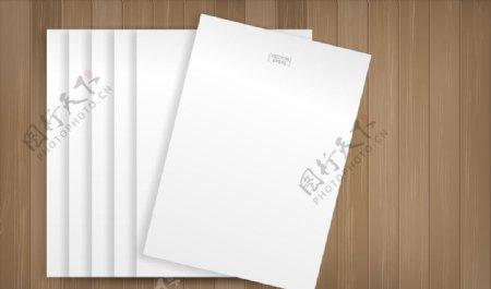 空白纸张样机图片