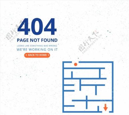 迷宫图错误页图片