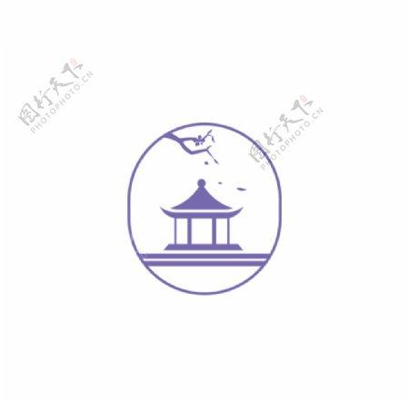 中国风亭子logo图片