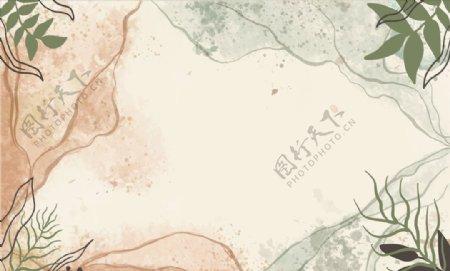 淡彩植物花卉底纹图片