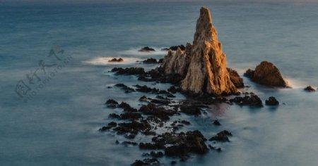 大海小岛海洋海水风景图片