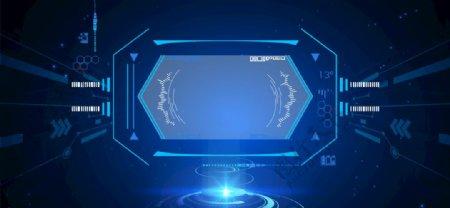 蓝色科技背景素材图片
