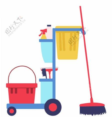 清洁工具推车图片