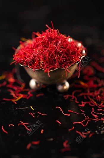 藏红花养生补品背景海报素材图片