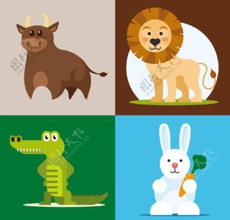 矢量小动物插画图片