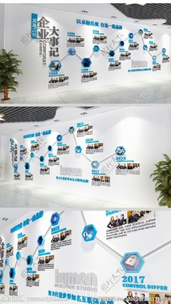 企业发展历程文化墙设计图片