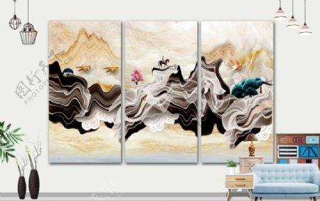 壁画禅意画图片