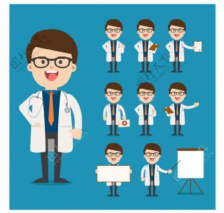 医生图标卡通医生人物头像图片