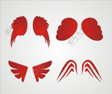 矢量翅膀元素素材图片