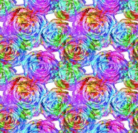 抽象水彩花卉图片