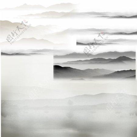 中国风山水背景图片