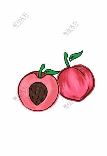 手绘桃子图片