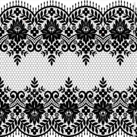 对称蕾丝花纹图片