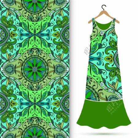 古典花纹服装图案图片