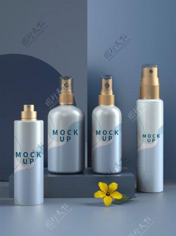3D模型多种喷雾瓶化妆品喷瓶包图片