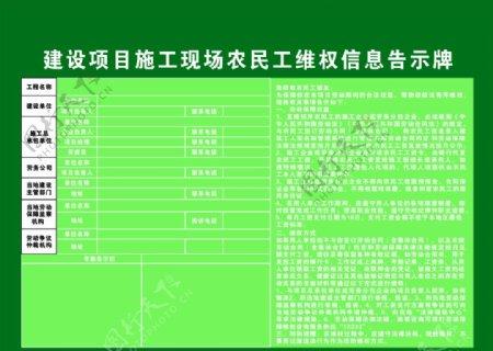 农民工维权告示牌图片