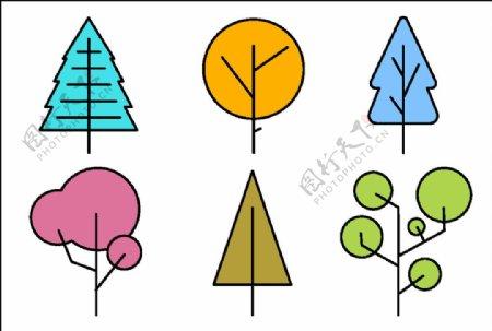树简笔画图片