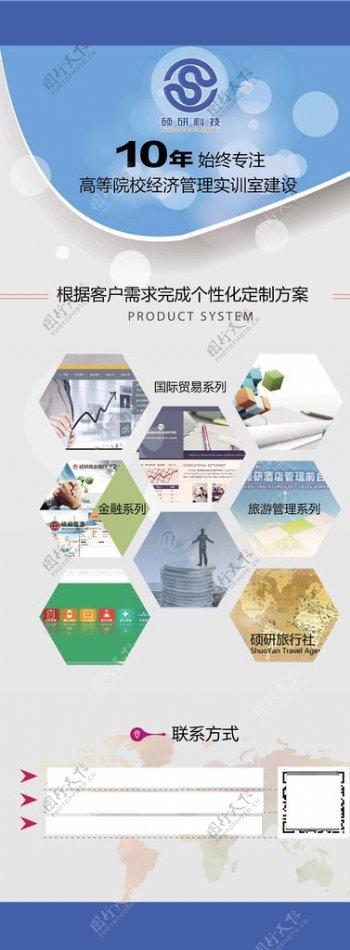 科技软件公司介绍产品介绍展架图片