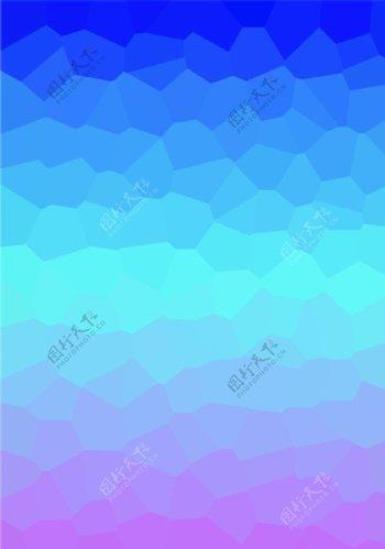 蓝色渐变晶格图片