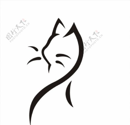 简笔画小猫头像图片