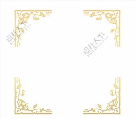 简约欧式边框元素图片