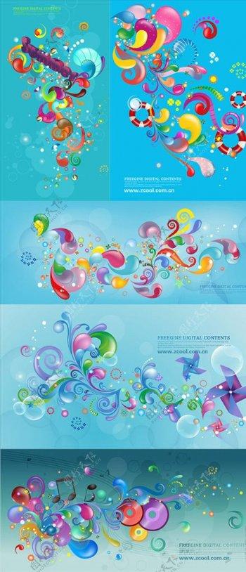 动感潮流花纹图案图片