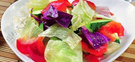 豫菜三色彩椒总汇图片
