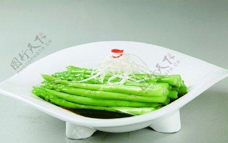 浙菜白灼芦笋图片